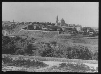 Glasplattendia Zion von Süden [Jerusalem]
