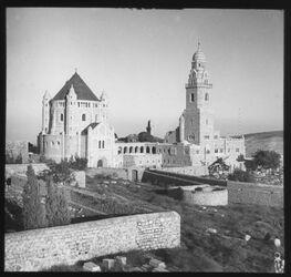 Glasplattendia Kirche v. Mariä Heingang v. W. [Jerusalem]