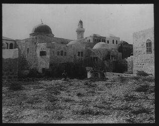 Glasplattendia Nebi Daud, Rückseite [Jerusalem]