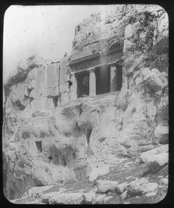 Glasplattendia Jakobusgrab [Kidrontal, Jerusalem]