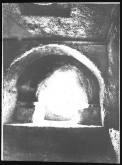 Glasplattendia Absalomsgrab, Inneres, Westseite [Kidrontal, Jerusalem]