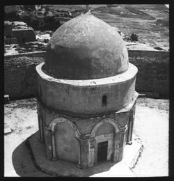 Glasplattendia Himmelfahrtskapelle [Jerusalem, Ölberg]