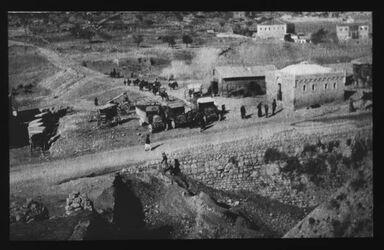Glasplattendia Straße zum Jaffator Sommer 1921 [Besan/Ben-Hinnomtal]