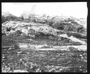 Glasplattendia Hügel bei Herodesgrab v. SW [Jerusalem]