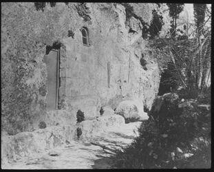 Glasplattendia Eingang zum Gordongrab [Jerusalem, ggf. Umgebung]