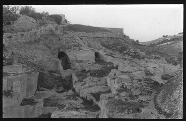 Glasplattendia Die sog. Königsgräber bei Jerusalem