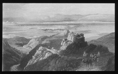 Glasplattendia Jericho - Ebene von Westen