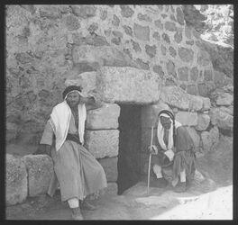 Glasplattendia Palästina Bethanien Lazarusgrab