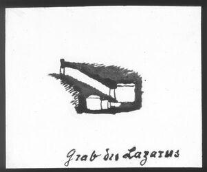 Glasplattendia Grab des Lazarus Querschnitt [Betanien]