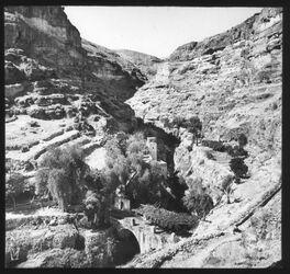 Glasplattendia Judäische Wüste, Wadi Kelt, St. Georgskloster