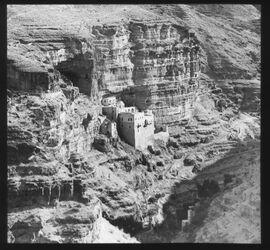 Glasplattendia Judäische Wüste, Wadi Kelt, Griechisches Anachoretenkloster St. Georg