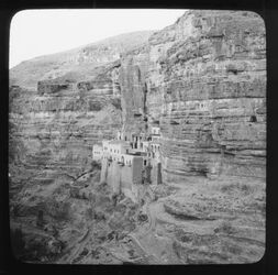 Glasplattendia Near View of St. Georges Convent [wadi kelt]