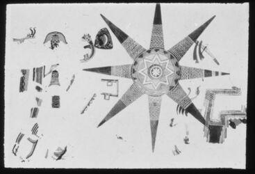 Glasplattendia , Wandmalerei eines Sterns