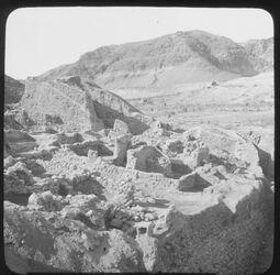 B XVII 20; Glasplattendia; Ruins of Ancient-Jericho