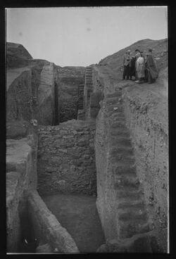 Glasplattendia Jericho/Ausgrabungen