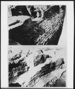 Glasplattendia Jericho, Wälle der Bronzezeit