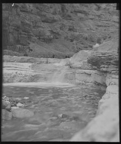 Glasplattendia Wadi ennar bei Marsaba