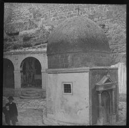 Glasplattendia Grab des Hl. Saba