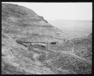 Glasplattendia Am Fuss v. ch. [chirbet] Mird (Hirbet Mird = Hyrkania - Festung südöstlich von Jerusalem)