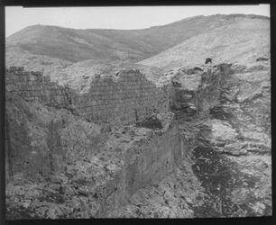 Glasplattendia Teich von ch. [chirbet] Mird (Hirbet Mird = Hyrkania - Festung südöstlich von Jerusalem)