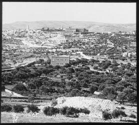 Glasplattendia Bethlehem Panorama II. Teil von Tantur