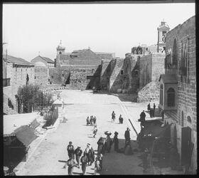 Glasplattendia Vorplatz der Geburtskirche [Bethlehem]