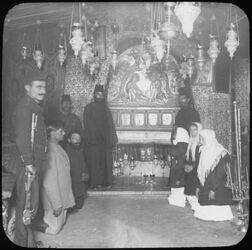 Glasplattendia Die Geburtsgrotte in Bethlehem
