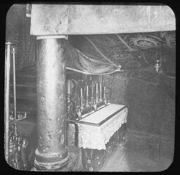Glasplattendia Altar der heiligen drei Könige in der Geburtsgrotte, Bethlehem