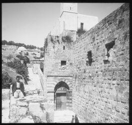 Glasplattendia Nördlicher Aufgang zum Haram, Hebron