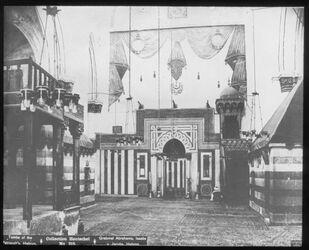 Glasplattendia Grab Isaaks und Rebekkas in Hebron