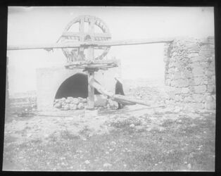 Glasplattendia Brunnen von bir es-seba [beersheba]
