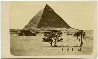 Fotografie Eine Pyramide bei Cairo [Kairo].