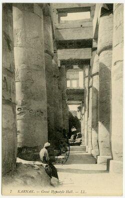 Fotografie Karnak. - Great Hypostyle Hall.