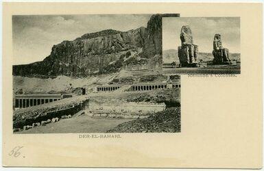 Postkarte Der-el-Bahari [Der el-Bahri]. Memnon