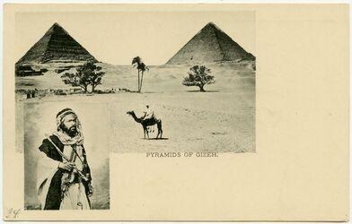 GDIp03077; Postkarte; Pyramids of Gizeh., in Bestand von rund 5.000 nach Themen und Orten sortierten Kleinbildabzügen