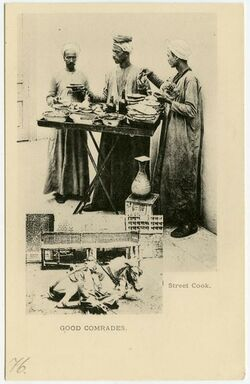Postkarte Street Cook. Good Comrades. [wohl Kairo]