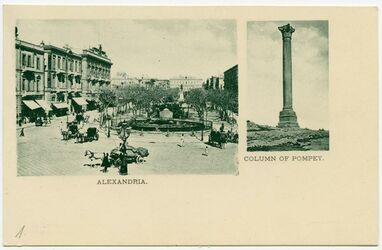 Postkarte Alexandria. Column of Pompey.
