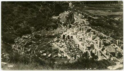 Fotografie Theater in Ephesus.
