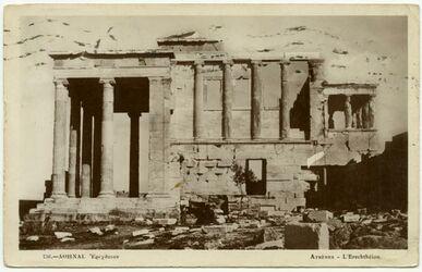 Postkarte Athen. Der Erechtheion.
