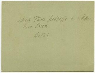GDIp03099; Fotografie; Schech Faris Subhijje u. s. Vetter beim Essen, Balat, in Bestand von rund 5.000 nach Themen und Orten sortierten Kleinbildabzügen