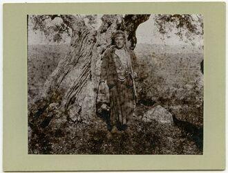 Fotografie Junger Bauer in Abu Kamha am Hermon
