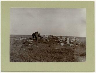 Fotografie Ruine auf der Hochebene zwischen Nebo und Madaba,