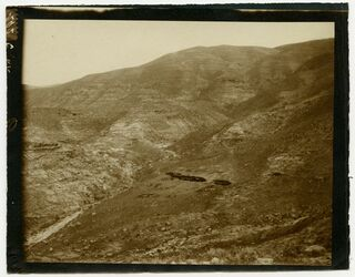 Fotografie beim Abstieg von Nebo