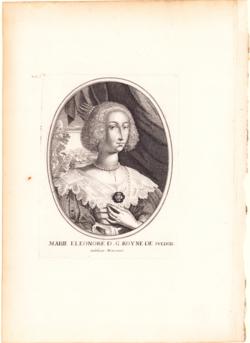 Porträtgrafik Porträt Maria Eleonora, Königin von Schweden