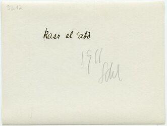 GDIp03165; Fotografie; kasr el 'abd, in Bestand von rund 5.000 nach Themen und Orten sortierten Kleinbildabzügen