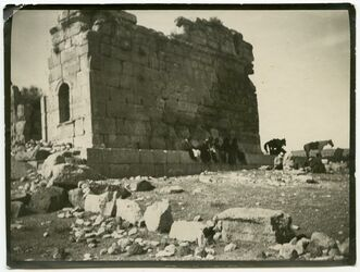 Fotografie Kasr elbint bei dalliar [?] [evtl. kasr bint el-malik]