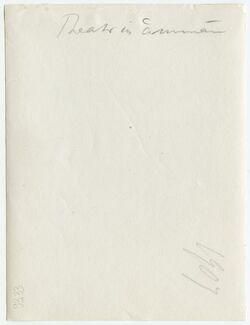 GDIp03186; Fotografie; Theater in 'amman, in Bestand von rund 5.000 nach Themen und Orten sortierten Kleinbildabzügen