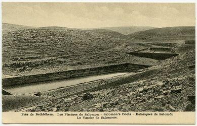 Postkarte Près de Bethléhem. Les Piscines de Salomon [... bei Bethlehem]