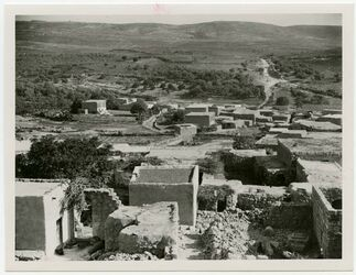 Fotografie Blick nach S, Aafuriehe in kalilel [...] of Nazareth. [saffurie]