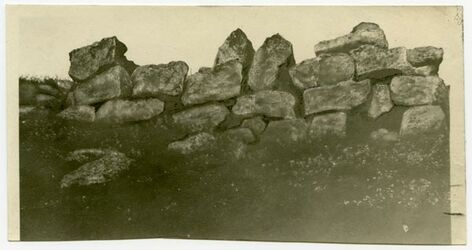 Fotografie Cyclopenmauer v. Gaba (ed-dschabie)